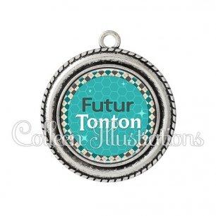 Pendentif résine Futur tonton (030VER01)