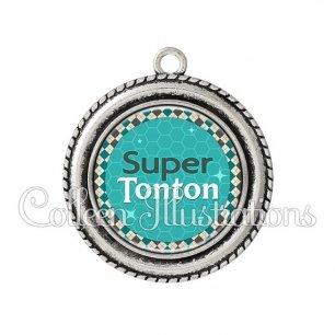 Pendentif résine Super tonton (030VER01)
