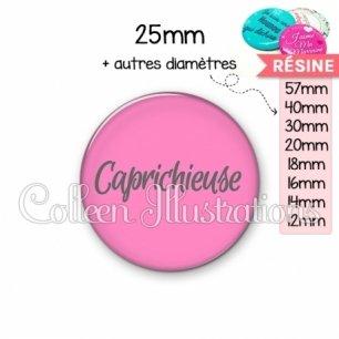 Cabochon en résine epoxy Caprichieuse (181ROS06)