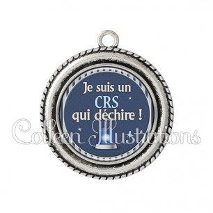 Pendentif résine CRS qui déchire (031BLE02)