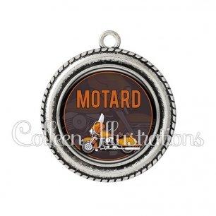 Pendentif résine Motard (032MAR03)