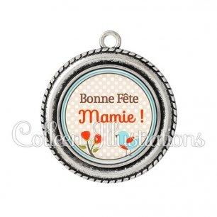 Pendentif résine Bonne fête mamie (032MAR04)