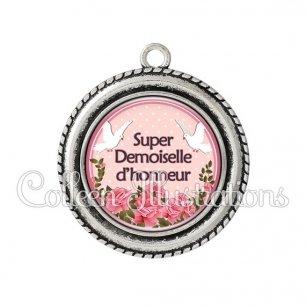 Pendentif résine Super demoiselle d'honneur (032ROS01)