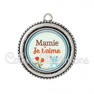 Pendentif résine Je t'aime mamie (032VER02)