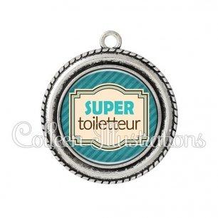 Pendentif résine Super toiletteur (004BLE01)