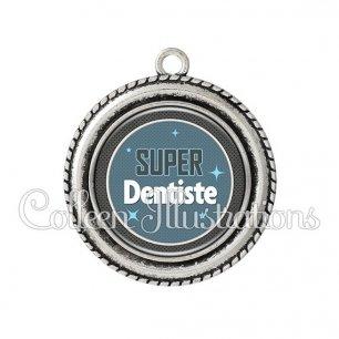 Pendentif résine Super dentiste (034BLE01)
