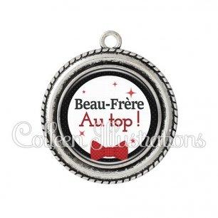 Pendentif résine Beau-frère au top (036NOI01)