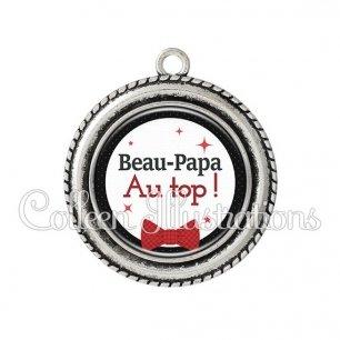 Pendentif résine Beau-papa au top (036NOI01)