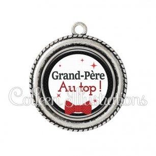 Pendentif résine Grand-père au top (036NOI01)
