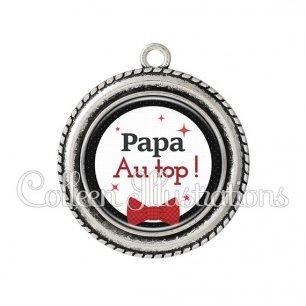 Pendentif résine Papa au top (036NOI01)