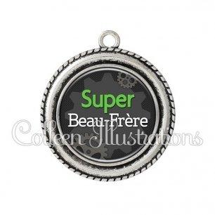 Pendentif résine Super beau-frère (038GRI01)