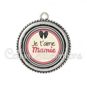 Pendentif résine Mamie je t'aime (042MAR01)