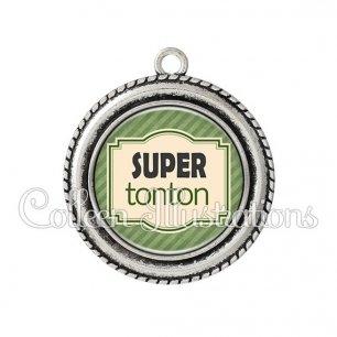 Pendentif résine Super tonton (004VER02)