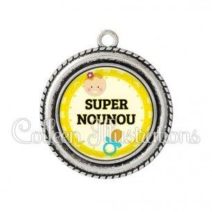 Pendentif résine Super nounou (044JAU01)