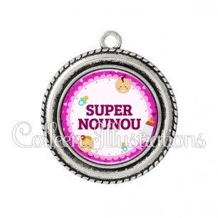 Pendentif résine Super nounou (044ROS02)