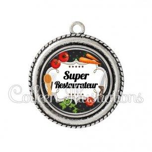 Pendentif résine Super restaurateur (045NOI02)