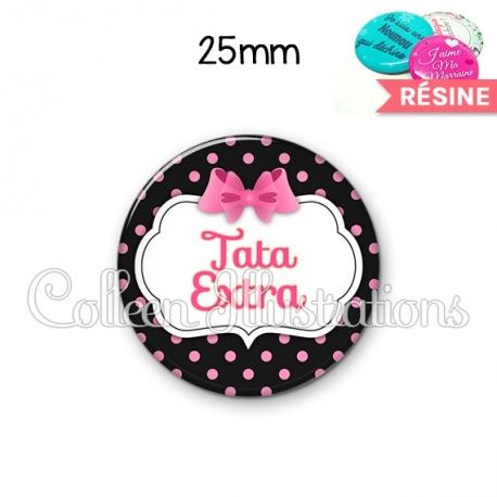 Cabochon en résine epoxy Tata extra (006NOI21)