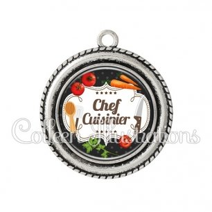 Pendentif résine Chef cuisinier (045NOI04)