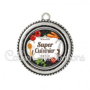Pendentif résine Super cuisinier (045NOI04)