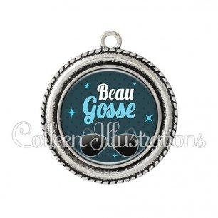 Pendentif résine Beau gosse (053BLE01)