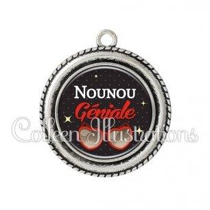 Pendentif résine Nounou géniale (053NOI01)