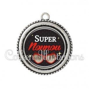 Pendentif résine Super nounou (053NOI01)