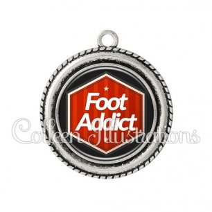 Pendentif résine Foot addict (055ROU01)
