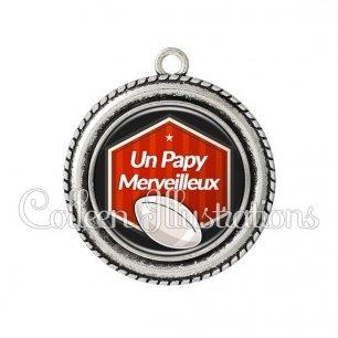 Pendentif résine Papy merveilleux (055ROU02)