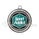 Pendentif résine Sport addict (055VER01)