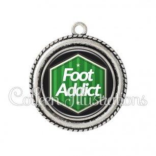 Pendentif résine Foot addict (055VER02)