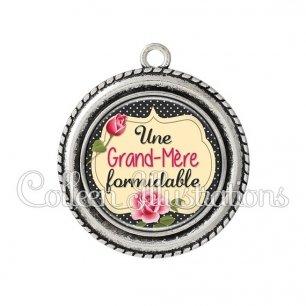 Pendentif résine Grand-mère formidable (061NOI01)
