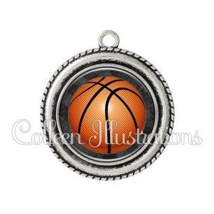 Pendentif résine Basket (062GRI01)