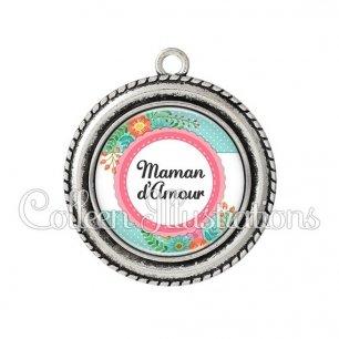 Pendentif résine Maman d'amour (066VER01)