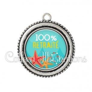 Pendentif résine 100% retraité (069BLE01)