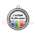 Pendentif résine ATSEM la plus sympa (070BLA01)