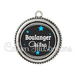 Pendentif résine Boulanger au top (073GRI01)