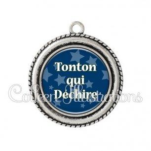 Pendentif résine Tonton qui déchire (078BLE02)