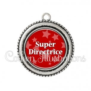 Pendentif résine Super directrice (078ROU01)