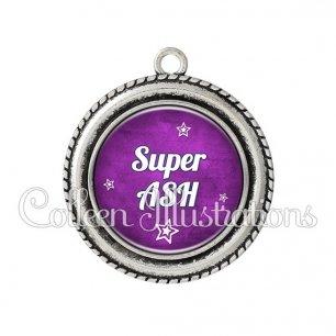 Pendentif résine Super ASH (079VIO01)