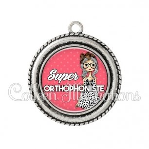 Pendentif résine Super orthophoniste (081ROS02)