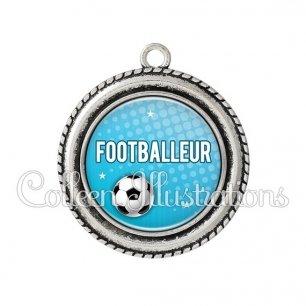 Pendentif résine Footballeur (082BLE02)