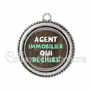 Pendentif résine Agent immobilier qui déchire (086MAR01)