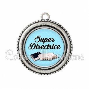 Pendentif résine Super directrice (087BLE01)