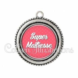 Pendentif résine Super maîtresse (087ROS01)