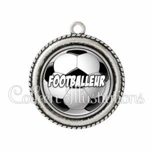Pendentif résine Footballeur (089MUL01)