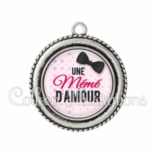 Pendentif résine Mémé d'amour (093ROS01)