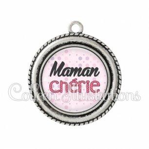 Pendentif résine Maman chérie (093ROS02)