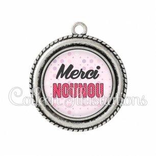 Pendentif résine Merci nounou (093ROS02)