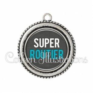 Pendentif résine Super routier (096GRI01)