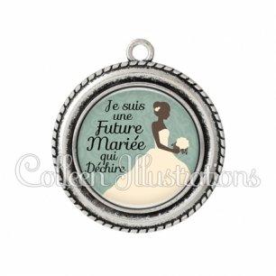 Pendentif résine Future mariée qui déchire (097VER01)
